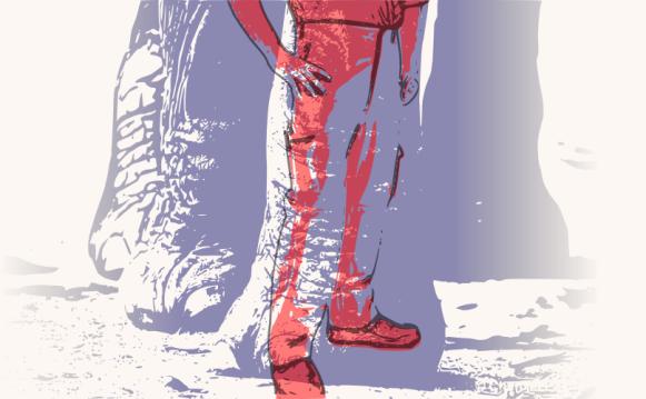 20121125: A man with an elephant's step by John LeMasney via 365sketches.org #cc #design