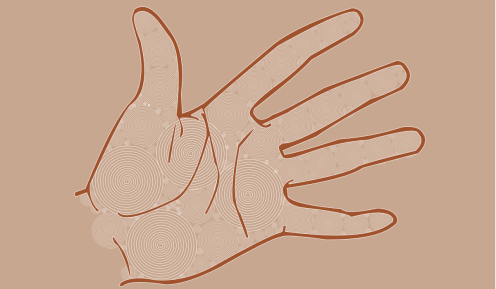 20121225: a universal hand by John LeMasney via 365sketches.org #creativecommons #design #humanism