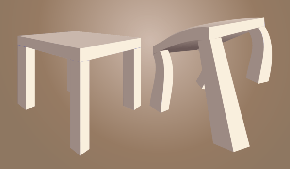 20121217: Ikea Lack table comes to life by John LeMasney via 365sketches.org #creativecommons #design #cc-by