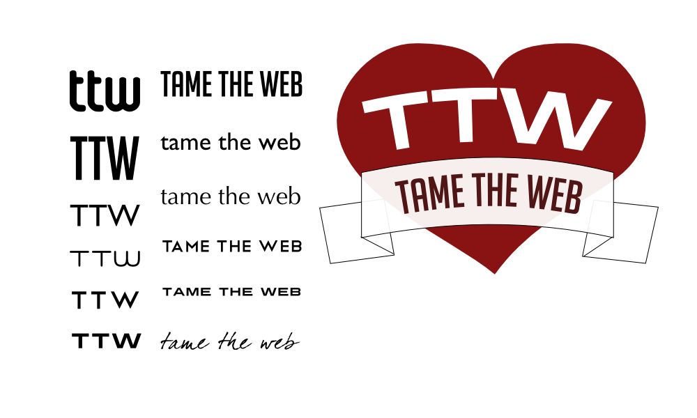 Tame The Web logo revision 0 by John LeMasney via lemasney.com