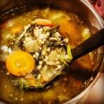 Spinach soup with Acini di Pepe [recipe].