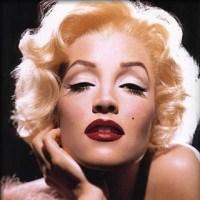 Pixelation portrait of Marilyn Monroe