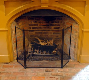 Jedediah Higgins House, Kingston, NJ, Interior, fireplace detail, cc-by lemasney