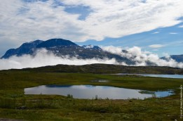 Marshland and lake in the Norwegian mountains