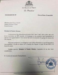 Haïti-Politique: 70 Députés demandent l'interpellation du Premier ministre 2
