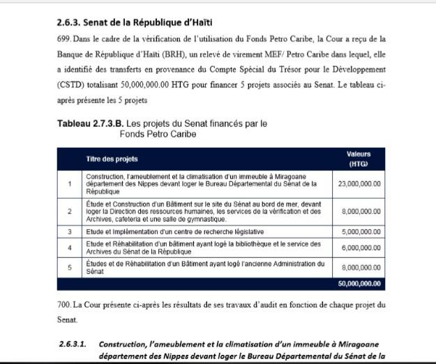 3 remarques pertinentes sur le 2ème rapport de la CSCCA sur le dossier PetroCaribe 6