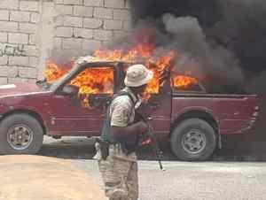 Haïti-Crise: Plusieurs voitures de la Radio Télé Ginen incendiées par les manifestants 2