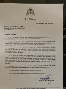 Haïti: Le Sénateur Garcia Delva se retire momentanément du Bureau du Sénat 1