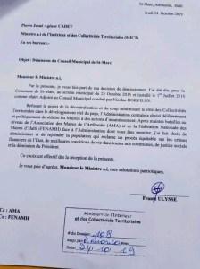 Haïti: Démission du Maire adjoint de Saint-Marc 1