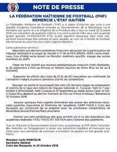 Haïti-Sport: La Fédération Haïtienne de Football reçoit une aide du gouvernement haïtien 1