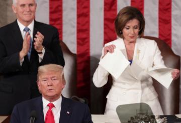 International: La démocrate Nancy Pelosi déchire le discours de Donald Trump sur l'état de l'Union 9