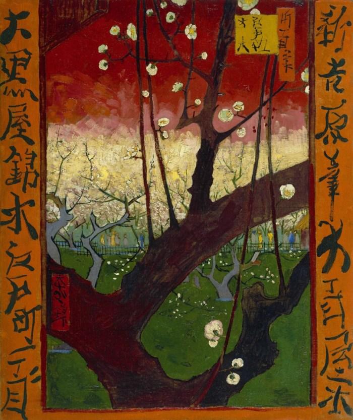 japonaiserie-prunier-en-fleur-van-gogh ukiyo-e
