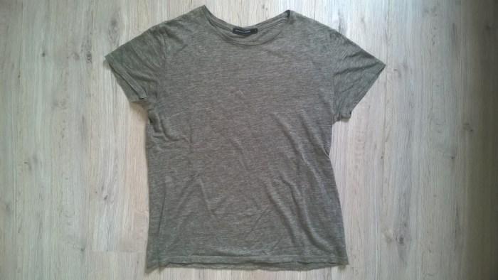 tee shirt en lin kaki de Monoprix