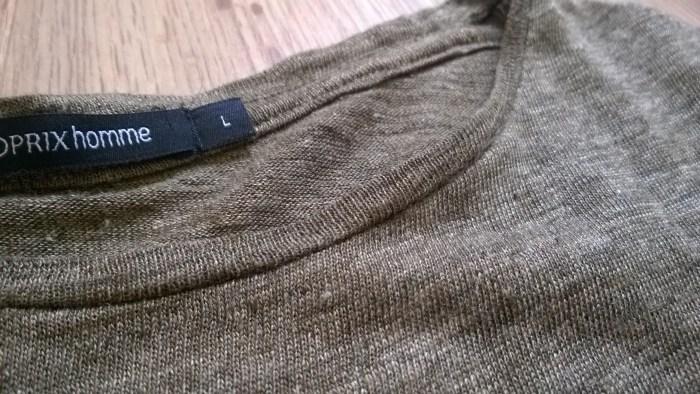 col tee shirt lin monoprix