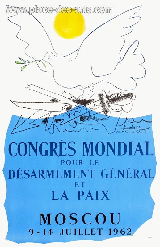 L'affiche du Congrès de Moscou histoire colombe picasso