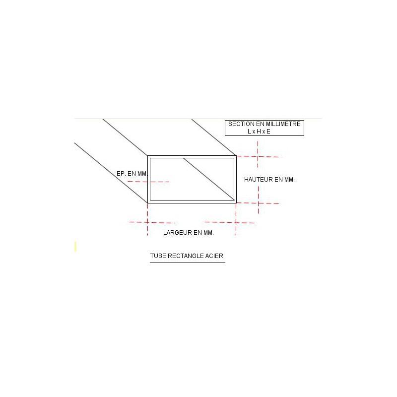 tube acier rectangle