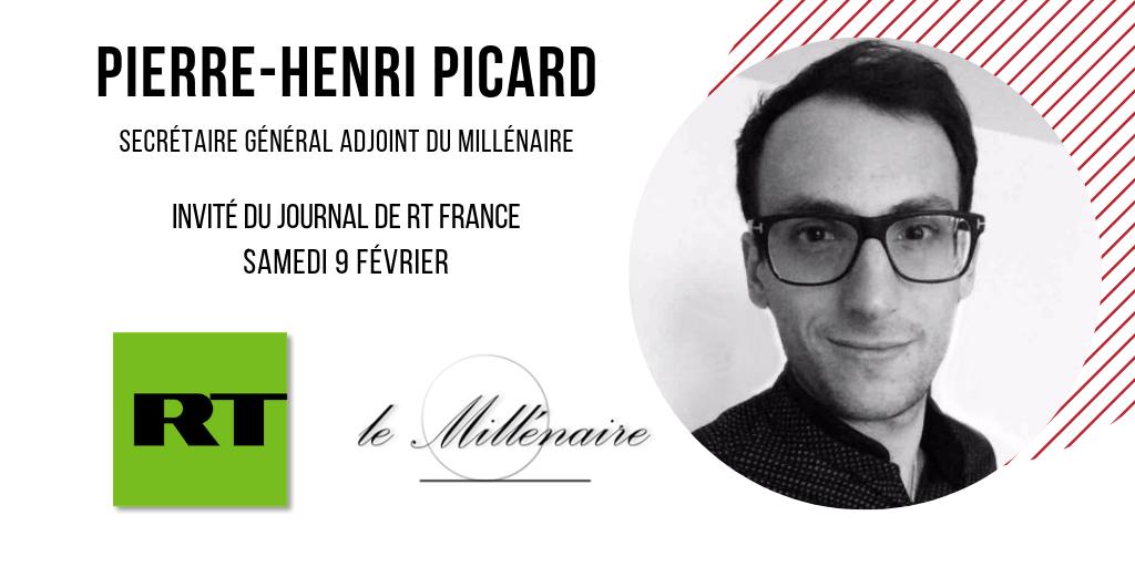 Pierre-Henri Picard, Secrétaire général adjoint du Millénaire, invité du JT de RT France le 9 Février