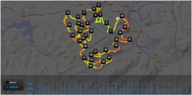 parcours de 35km de Trail en chaussures minimalistes
