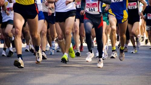 Foulée médio pieds compétition