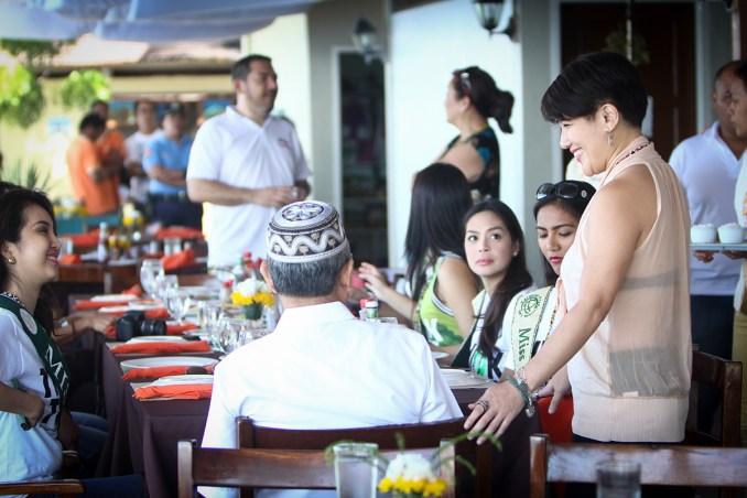 Guests enjoying the restaurant