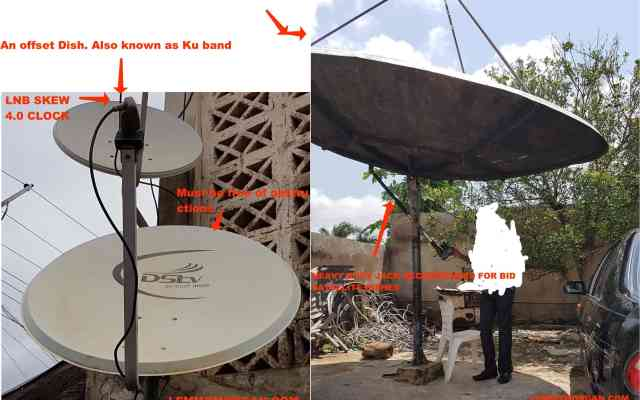 Manually track a satellite dish
