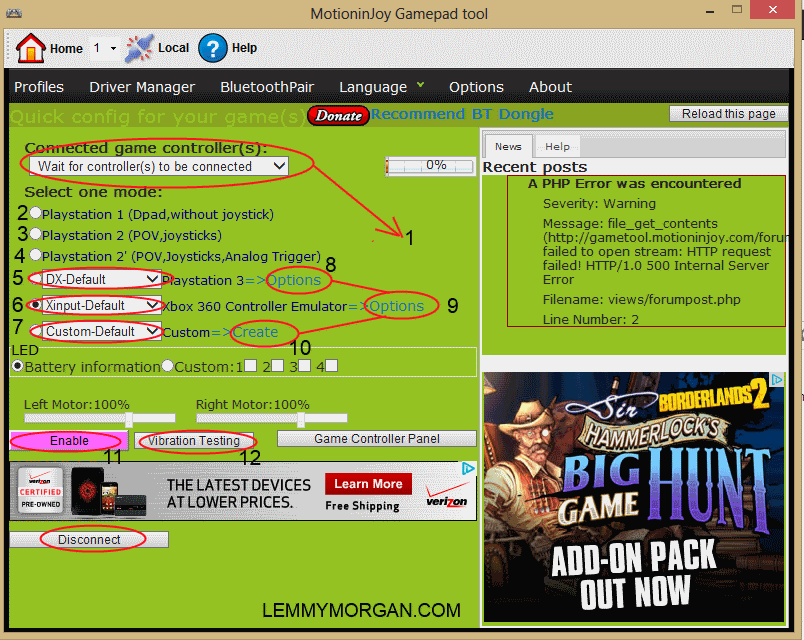 How To Install & Use MotioninJoy Gamepad Tool to Emulate Xbox 360 controller, Ps 3 Gamepad, & Logictech Gamepad on Pc