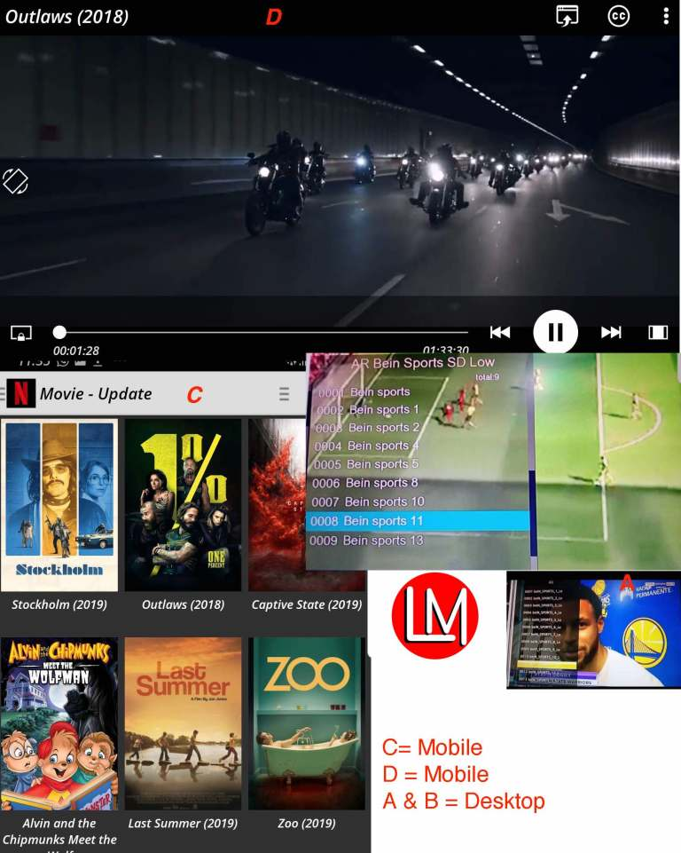 mobile IPTV Vs desktop