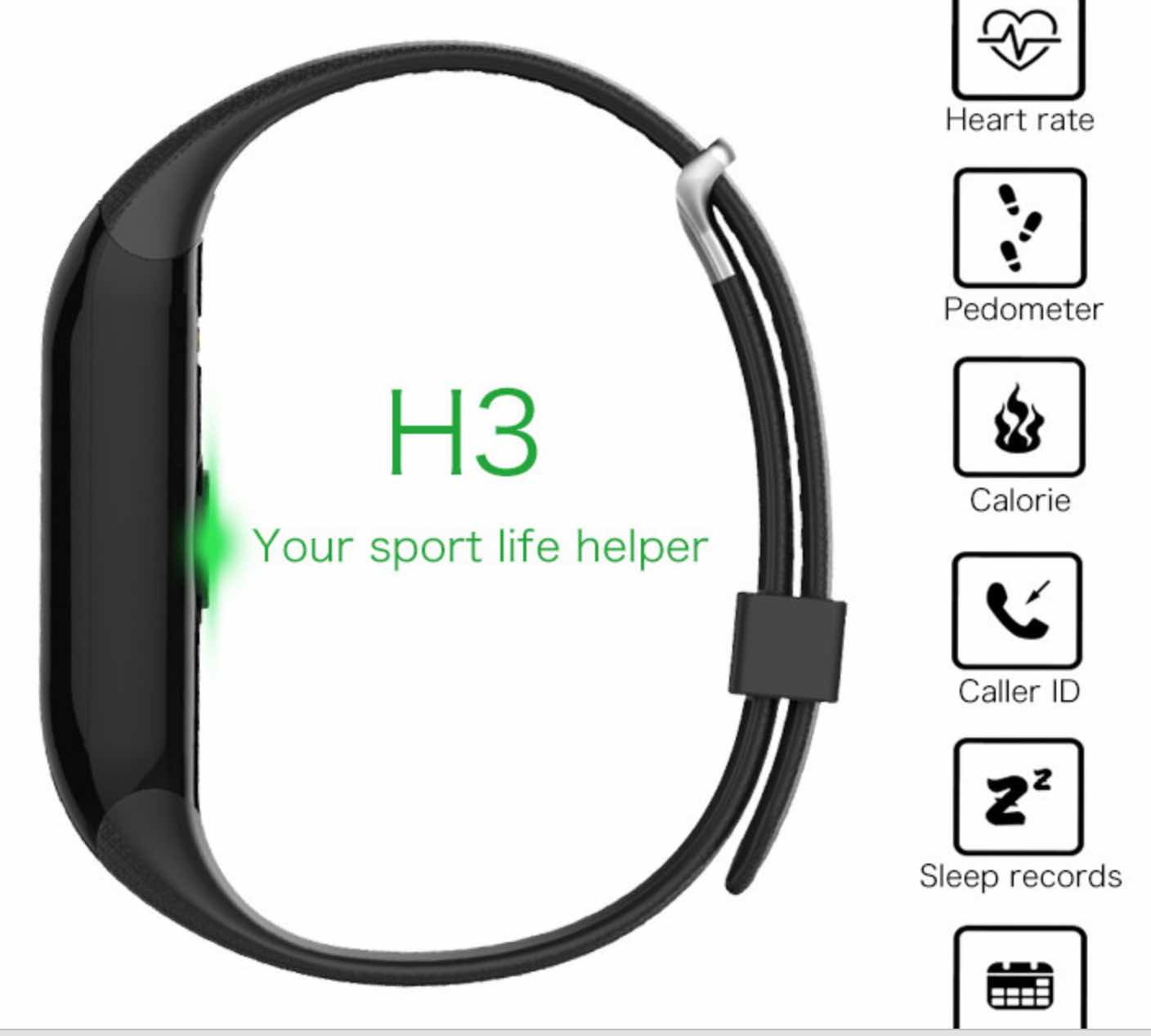 Multi-Feature Waterproof Smart Wristband Bracelet With Heart Rate Monitor