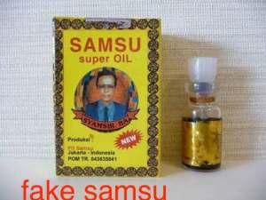 Fake samsu oil