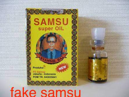 Fake samsu oil