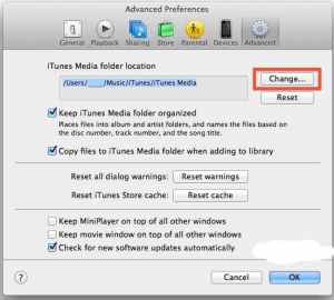 itunes path on mac and pc