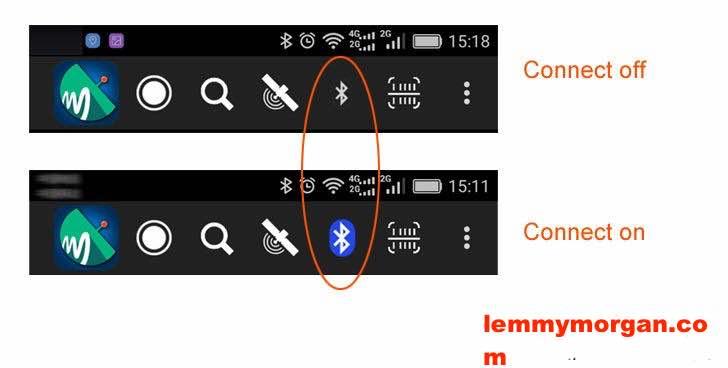 Hellobox B1-Bluetooth Satellite Finder connection status