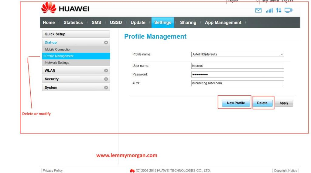 huawei E8372h_608-profile management