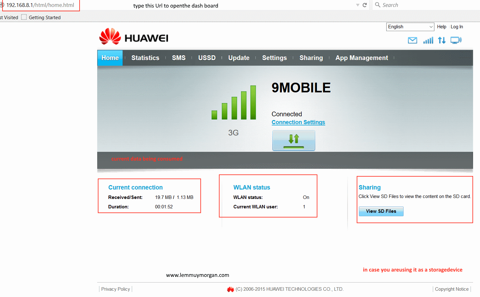 Huawei USB modem plus MiFi combo the getting started guide