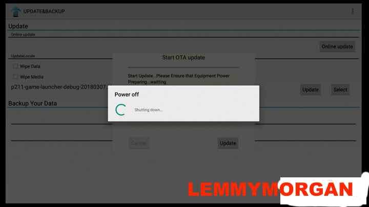 Anmax IPTV box upgrade process