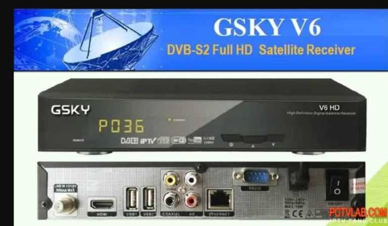 GSKY V6 DVB-S2 FULL HD Satellite Receiver