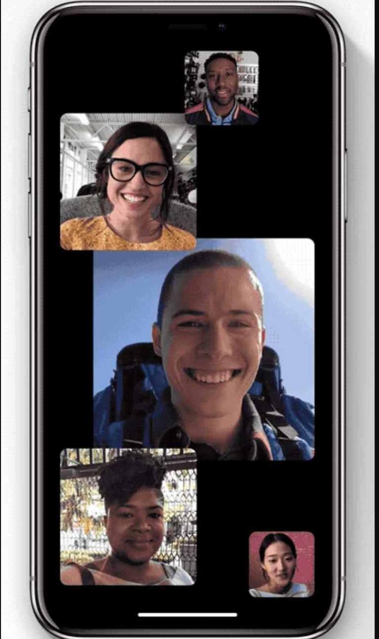 iOS 12 Group face time