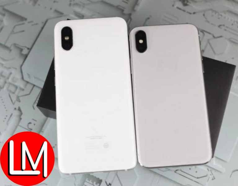 Xiaomi Millet 8 clones iPhone X-when logo is off