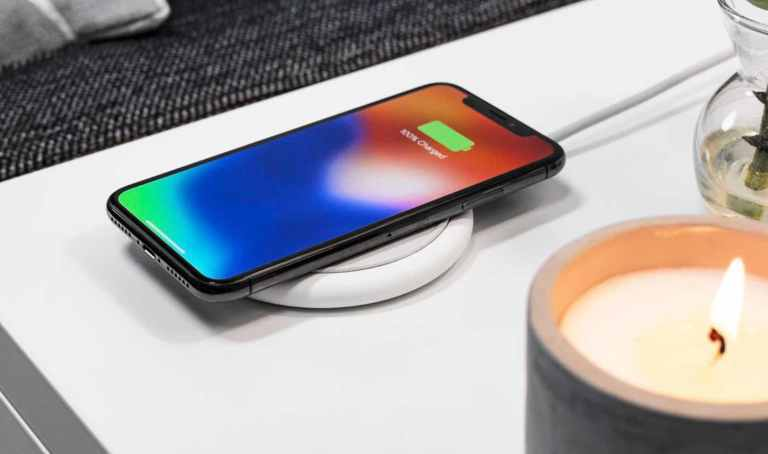 iPhone wireless charging pad