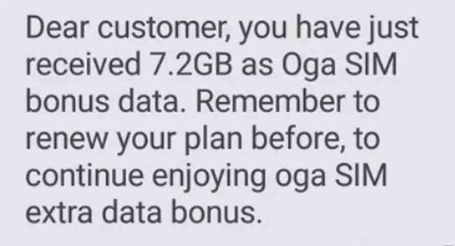 Image result for glo oga sim data bonus