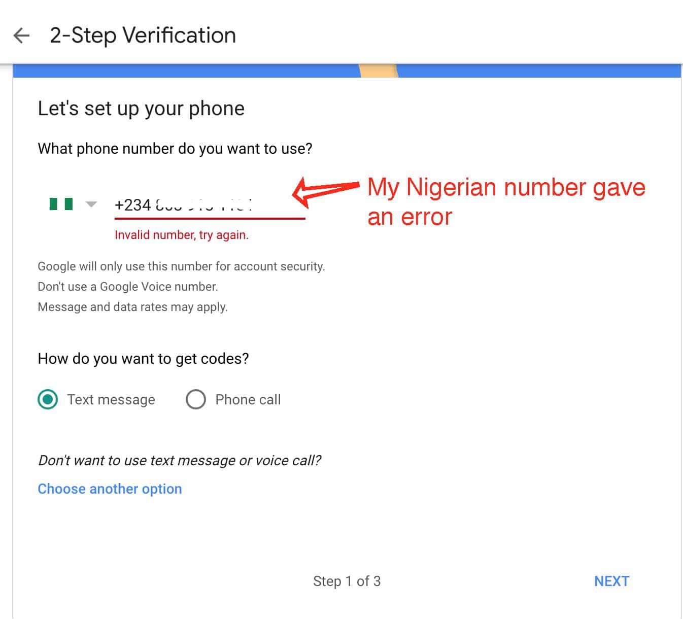 How to set up google voice in nigeria