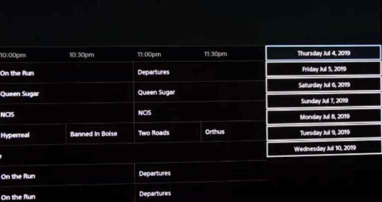 PS Vue_Channel guide interface