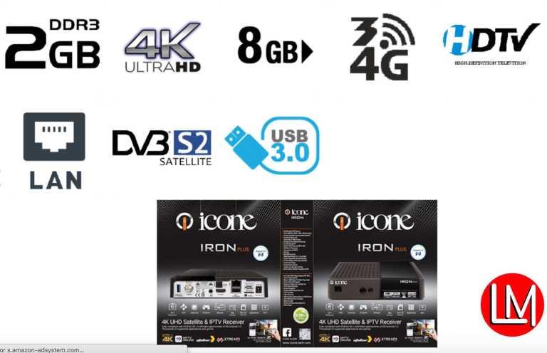 icone Iron Plus 4K UHD Satellite & IPTV Receiver_specs_sheet