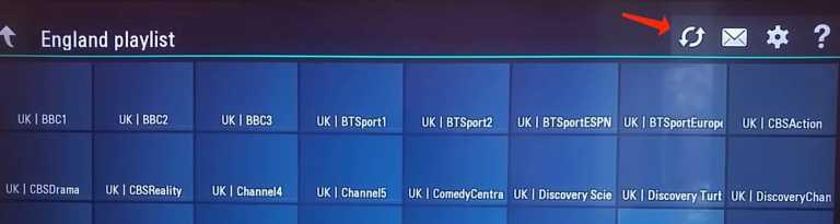 IPTV playlist on LG Smart TV via ss iptv app