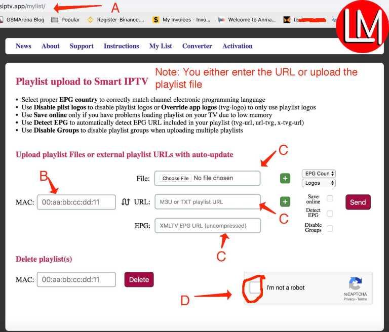 m3u playlist installation on smart IPTV