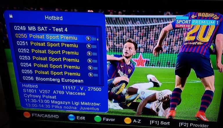 polsat channels list on hotbird