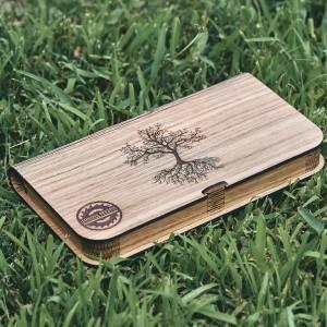 Cutie lemn Stejar cu loc pentru fotografii 10x15 cm si stick