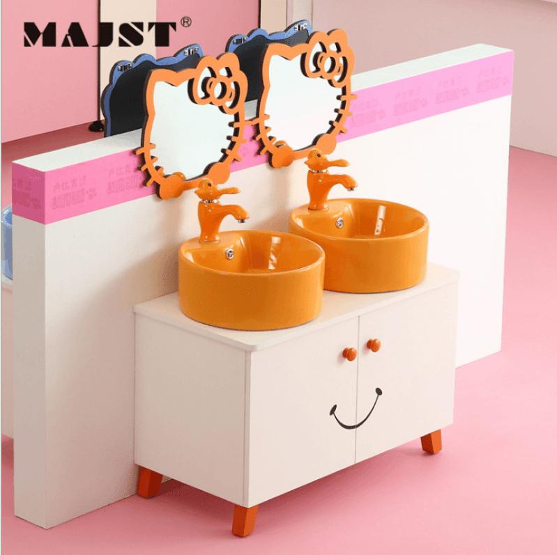 lavabo tủ cho trẻ em lavabo tủ Baby gỗ ( đôi)17011-2