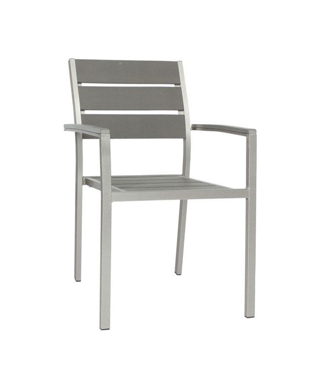 m0528 fauteuil en aluminium