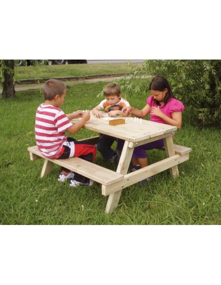 table pique nique pour enfants